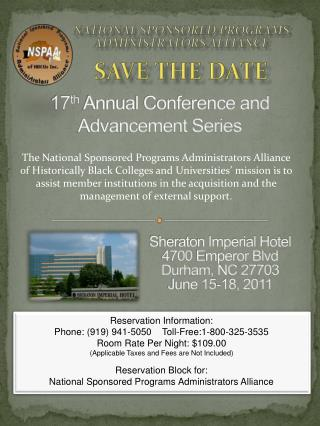 17 th  Annual Conference and Advancement Series