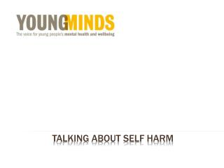 talking about self harm