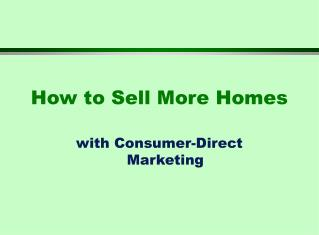 How to Sell More Homes
