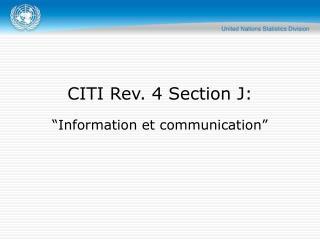 CITI Rev. 4 Section J: