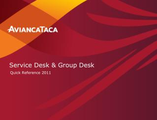 Service Desk & Group Desk