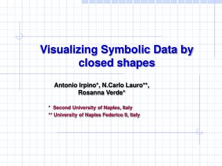 Visualizing Symbolic Data by closed shapes