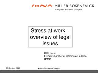 Stress at work – overview of legal issues