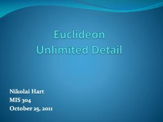 Euclideon Unlimited Detail