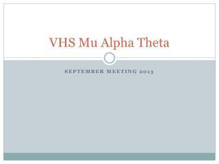 VHS Mu Alpha Theta