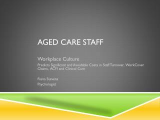 Aged Care Staff