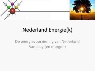 Nederland Energie(k)