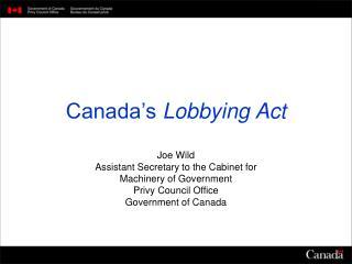 Canada's  Lobbying Act