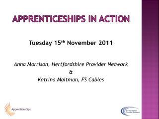 Apprenticeships in action