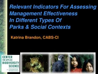 Relevant Indicators For Assessing  Management Effectiveness  In Different Types Of