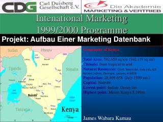 Intenational Marketing 1999/2000 Programme