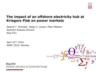 The impact of an offshore electricity hub at Kriegers Flak on power markets