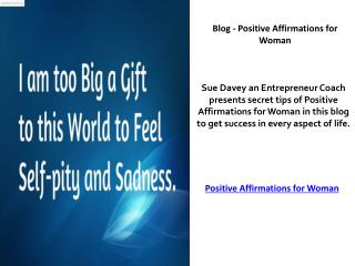 Success Coach and Mentor for Women – Sue Davey