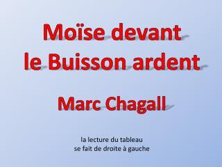 Moïse devant  le Buisson ardent Marc Chagall