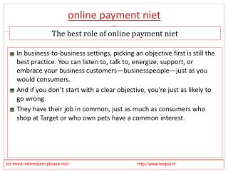 Online Support for You to online payment niet