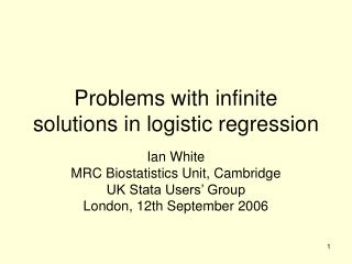 Problems with infinite solutions in logistic regression