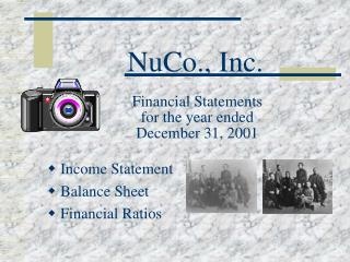 NuCo., Inc.  Financial Statements  for the year ended  December 31, 2001