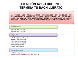 ATENCIÓN AVISO URGENTE TERMINA TU BACHILLERATO