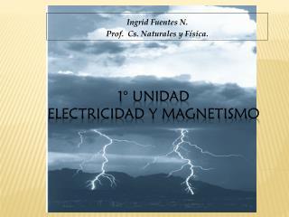 1° Unidad  ELECTRICIDAD Y MAGNETISMO