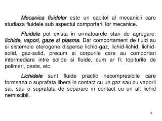 II. Elemente de mecanica fluidelor