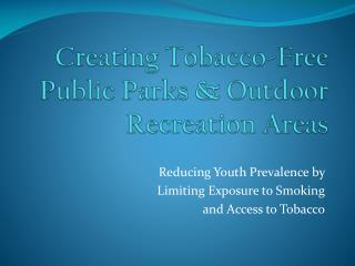 Creating Tobacco-Free Public Parks  Outdoor Recreation Areas