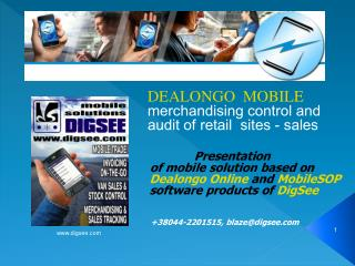 DEALONGO  MOBILE merchandising control and audit of retail  sites - sales