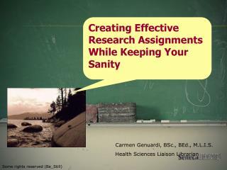 Carmen Genuardi, BSc., BEd., M.L.I.S. Health Sciences Liaison Librarian