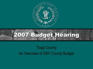 2007 Budget Hearing