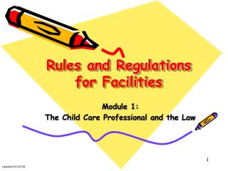 Rules and Regulations for Facilities