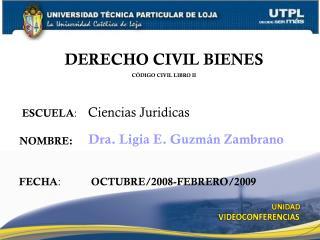 ESCUELA :     Ciencias Juridicas