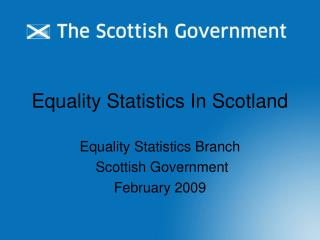 Equality Statistics In Scotland