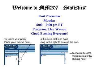 Welcome to MM207 - Statistics!