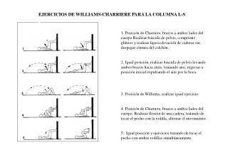 EJERCICIOS DE WILLIAMS-CHARRIERE PARA LA COLUMNA L-S