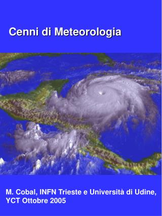 Cenni di Meteorologia