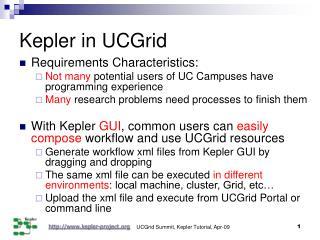 Kepler in UCGrid