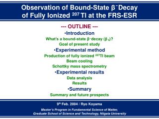Observation of Bound-State β  Decay of Fully Ionized  207  Tl at the FRS-ESR