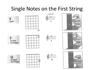 Single Notes on the First String