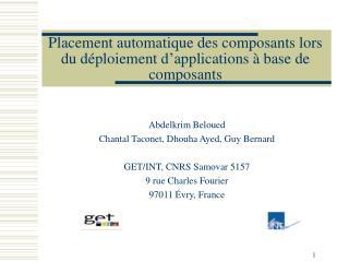 Placement automatique des composants lors du déploiement d'applications à base de composants