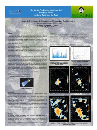 Mapa de Correlación de Precipitación Observada y Satelital, sobre