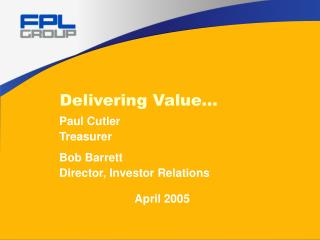 Delivering Value…