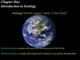 Chapter One Introduction to Geology