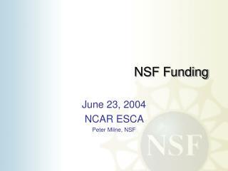 NSF Funding