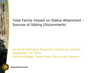 Total Family Impact on Status Attainment - Sources of Sibling (Dis)similarity