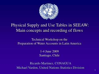 Ricardo Martinez, CONAGUA  Michael Vardon, United Nations Statistics Division