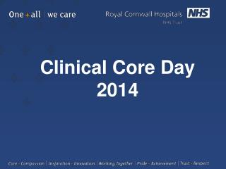 Clinical Core Day  2014