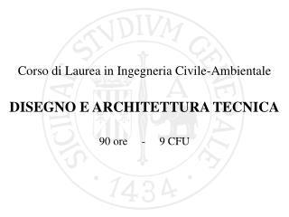 Corso di Laurea in Ingegneria Civile-Ambientale