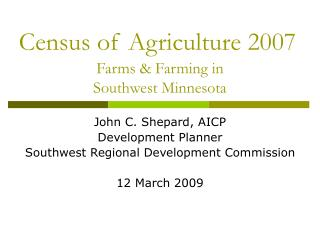 Census of Agriculture 2007