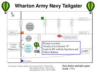 Wharton Army Navy Tailgater
