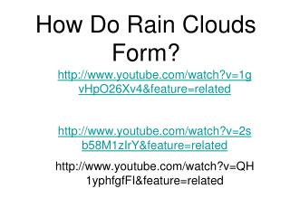 How Do Rain Clouds Form?