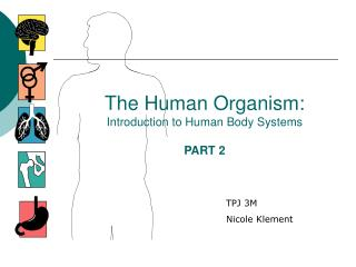 The Human Organism: Introduction to Human Body Systems PART 2